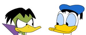 Donald Duck meets Count Duckula
