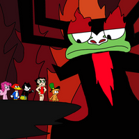 Crossover characters confronts Aku by Mega-Shonen-One-64