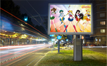 This poster shows Sailor Moon by Mega-Shonen-One-64