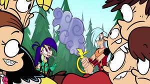 Loud Siblings look at Mighty Magisword scene by Mega-Shonen-One-64