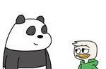Panda Bear meets Louie