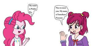 Human Pinkie Pie meets Yumehara Nozomi
