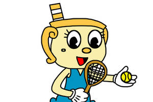 Ms. Chalice as tennis player