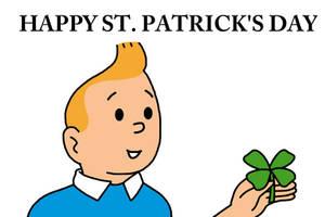 Happy St. Patrick's Day with Tintin by Mega-Shonen-One-64