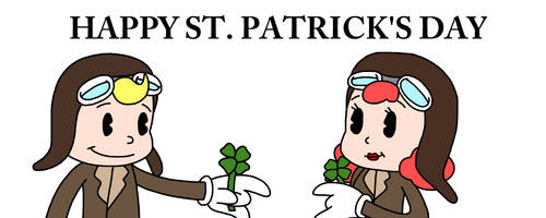 Happy St Patrick's Day with Buddy Boy n Bonnie Boo by Mega-Shonen-One-64