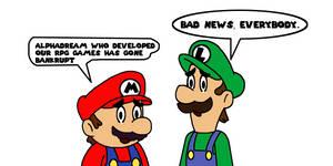 Mario n Luigi developer filled for bankrupt