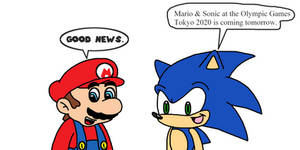 Mario n Sonic at the Olympics Games 2020 tomorrow