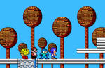 8-bit Pac-Man, Mario, Mega Man and Sonic