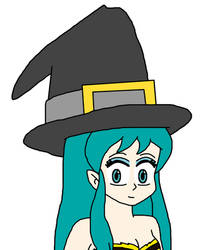 Lum Invader with witch hat by Mega-Shonen-One-64