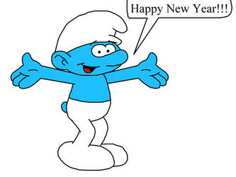 Happy New Year from Smurf by Mega-Shonen-One-64