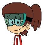 Lynn Loud with turquoise goggles