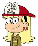 Leni Loud as firefighter