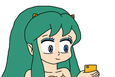 Lum Invader with smartphone by Mega-Shonen-One-64