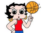 Betty Boop as Basketball player