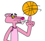 The Pink Panther as Basketball player by Mega-Shonen-One-64