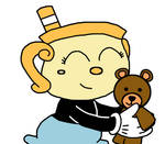 Ms. Chalice with teddy bear