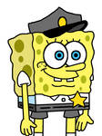SpongeBob as museum guard