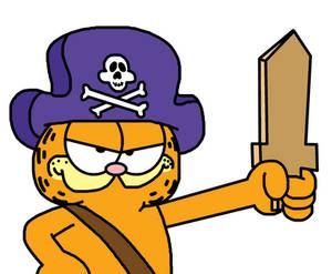Garfield dressed as pirate