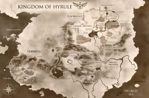 Kingdom of Hyrule | Giant Zelda Universe Map by PixelCollie