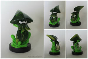Green Kraken | Custom Splatoon Squid Amiibo by PixelCollie