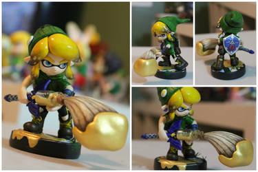 Custom 'Linkling' Splatoon\LoZ Amiibo by PixelCollie