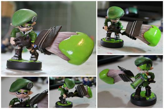 Custom Inkling Amiibo #55 | Lime Green Inkling Boy