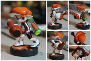 Custom Inkling Amiibo #61 | Orange Inkling Boy by PixelCollie