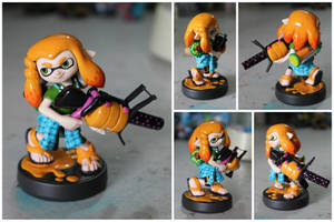 Custom Inkling Amiibo #62 | Orange Inkling Boy by PixelCollie