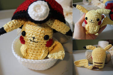 Miniature Pikachu Pokemon Amigurumi by PixelCollie