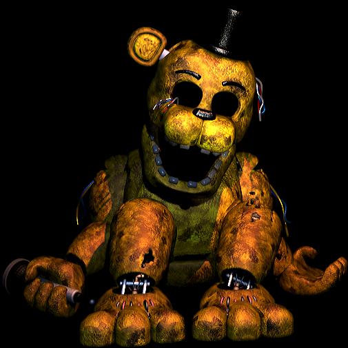 FNAF2 Slumped Golden Freddy 1 by ghostkillaAlex on DeviantArt