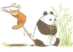 Pandapandapandapanda by Canvascope