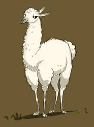 Llamas are awsm by Canvascope