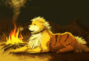 Master Fetches The Firewood by Canvascope