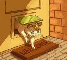 cat door by Canvascope