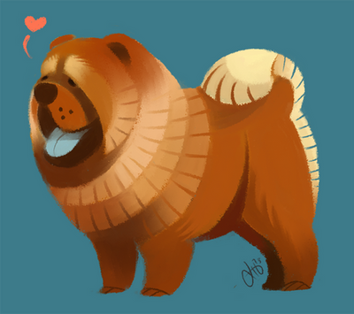 Chow Chow by Canvascope