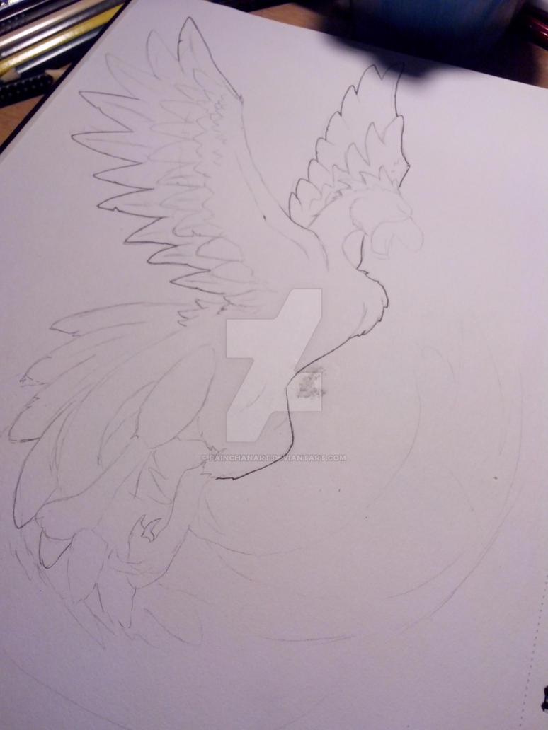 Wip  Phoenix by PainchanArt