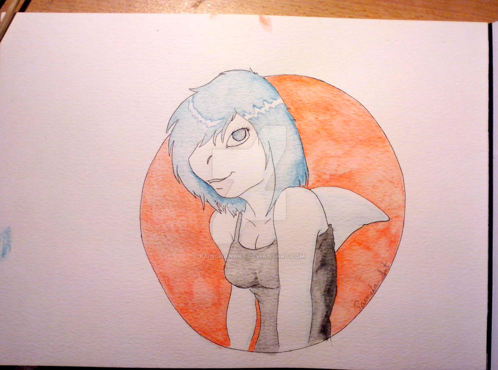 Shark Girl by PainchanArt