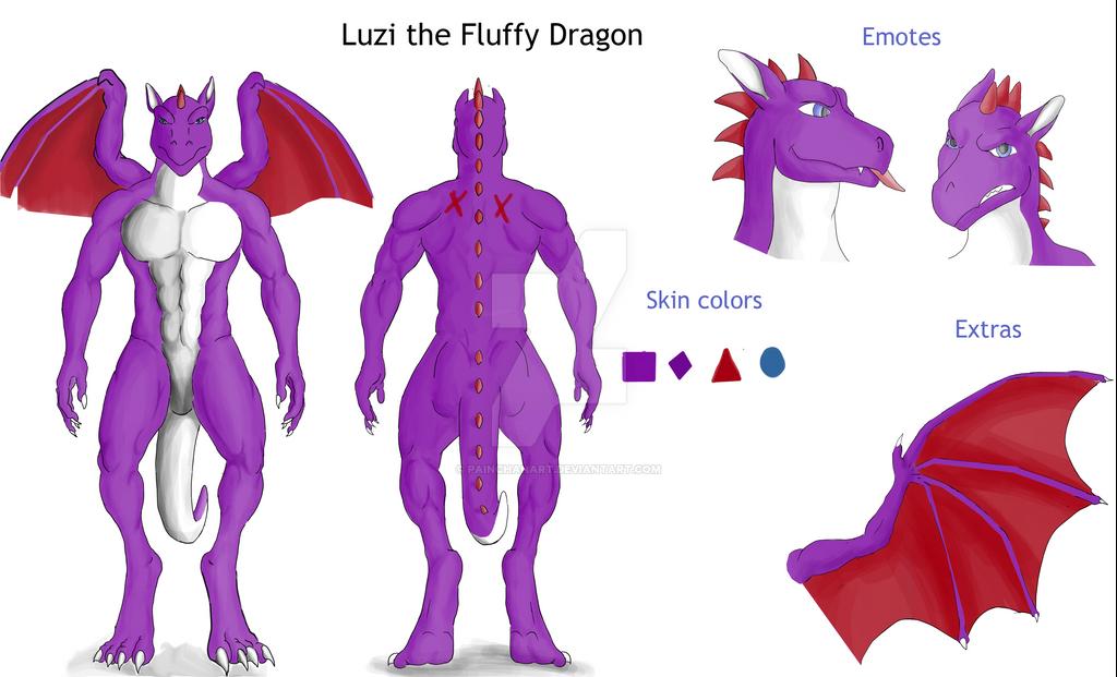 Luzi the Fluffy Dragon by PainchanArt