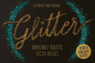 Glitter Brushes for Adobe Illustrator by videoeffects