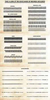 Finest Vintage - Illustrator Brushes by videoeffects