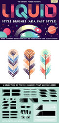 Liquid Style Brushes for Adobe Illustrator by videoeffects