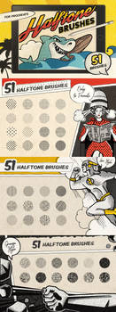 51 Vintage Comic Procreate Brushes by videoeffects