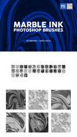 30 Marble Ink Photoshop Brushes