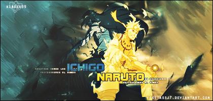Ichigo and Naruto by vegetassj7