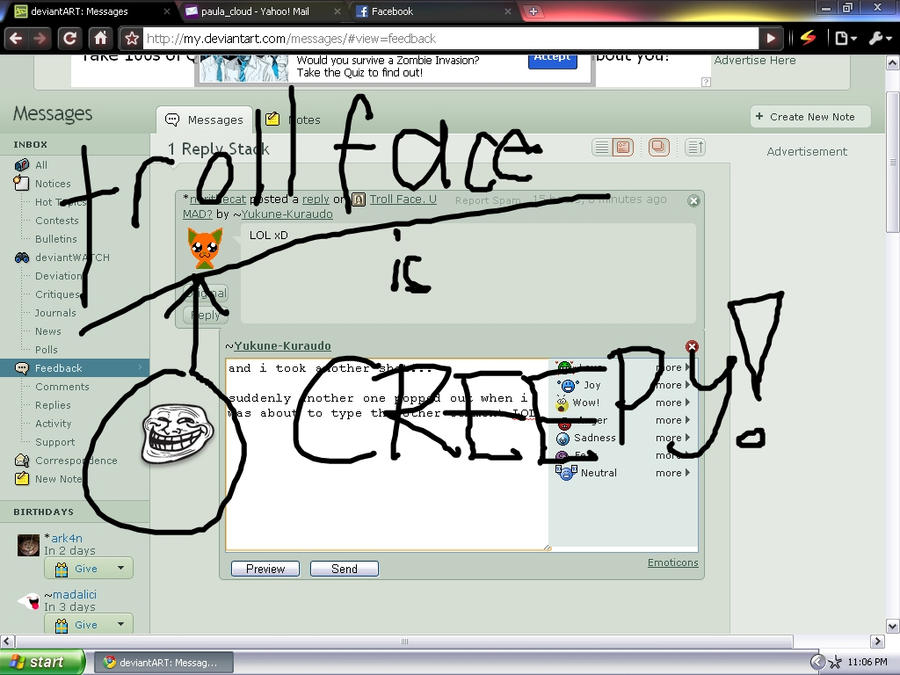 Troll Face U Mad