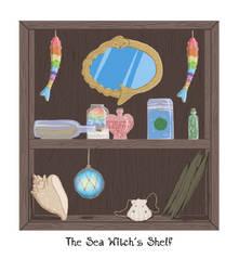 The Sea Witch's Shelf by rowanasabredancer