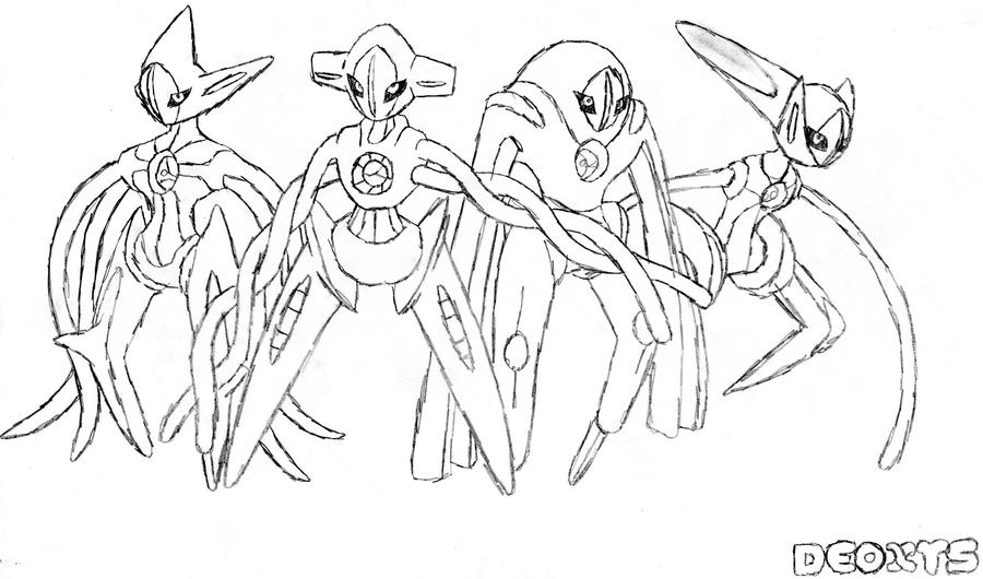 deoxys maze coloring pages - photo#24