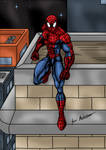 Spider-man on the Rooftops