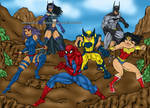 Marvel and DC Superhero Team