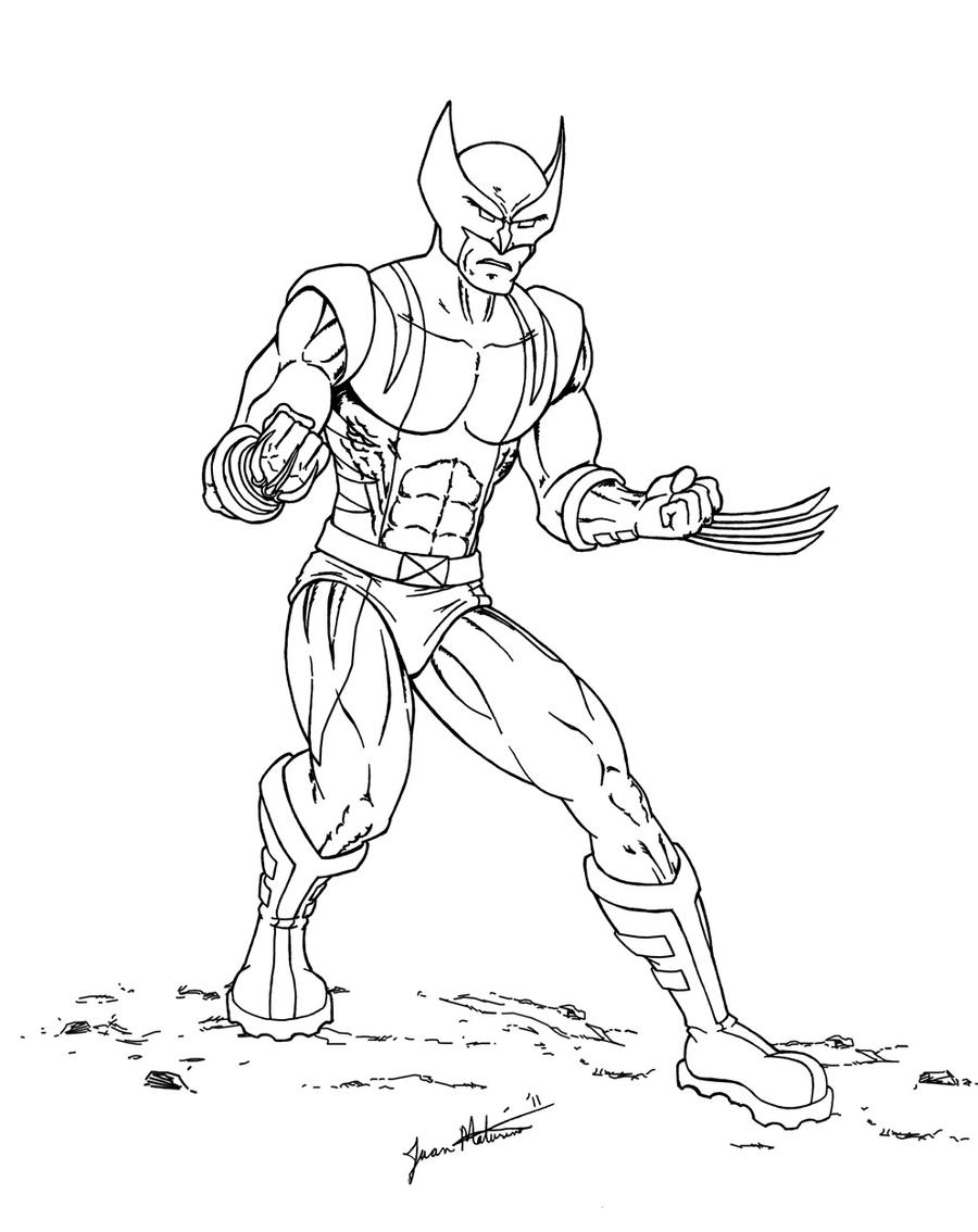Line Art Marvel : Marvel xmen wolverine by jmaturino on deviantart
